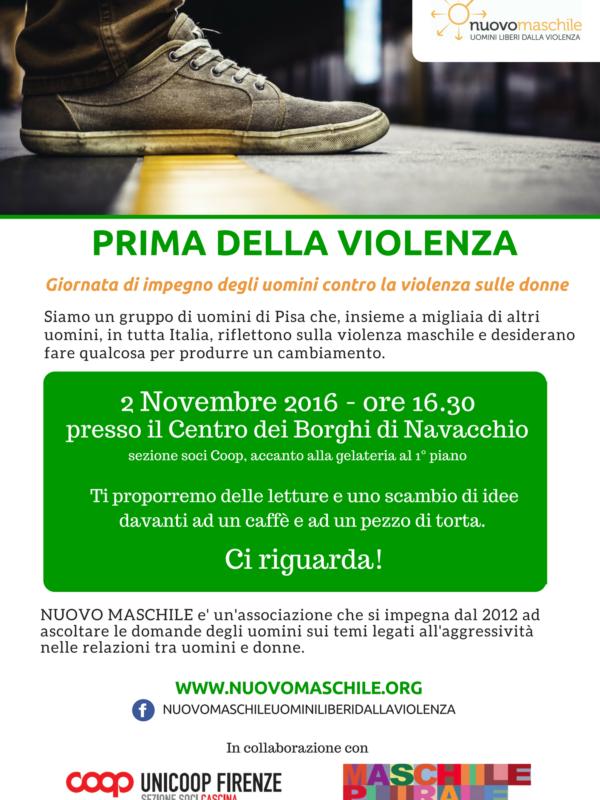 locandina evento 2 novembre, prima della violenza